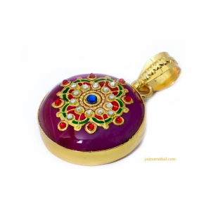 This exotic handcrafted collection is designed by our skilled craftsmen. All the pieces in our collection are engraved with different traditional floral designs that embodies tradition and beauty. So go ahead and grace yourself with this multicolour meenakari work and you will captivate the world without a doubt.